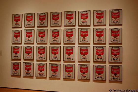Nyc moma per andy warhol l 39 arte doveva essere for Barattoli di zuppa campbell s