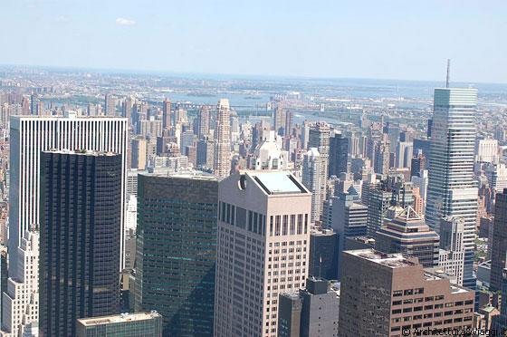 New york city dal top of the rock vista su manhattan in for Finestra new york