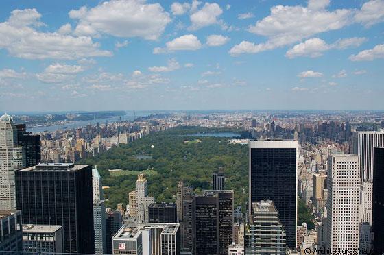 New york city la vista dall 39 alto di manhattan for New york dall alto