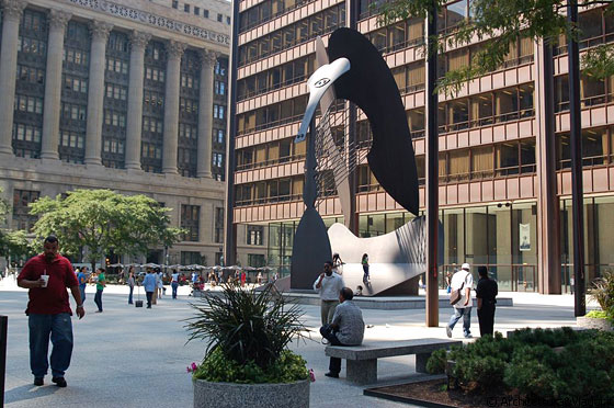 THE LOOP - Nella piazza di fronte al Richard J. Daley Center spicca la scultura