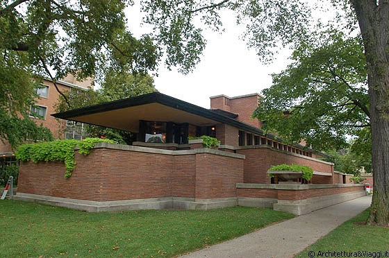 Chicago casa frederick c robie arch frank lloyd for Frank lloyd wright stile prateria