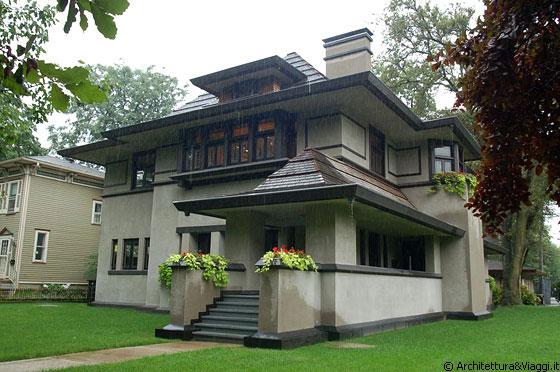 Edward r hills de caro house verso una nuova for Frank lloyd wright piani casa della prateria