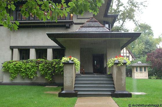 Oak park illinois il portico di accesso della casa for Colonne di portico di casa