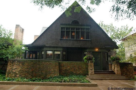 Oak park illinois casa studio di wright sul lato di for Frank lloyd wright piani casa della prateria