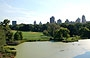 CENTRAL PARK. Dal Belvedere Castle vista sul Belvedere Lake e sul Great Lawn