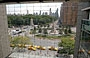 MIDTOWN MANHATTAN. Dalla hall vetrata del Time Warner Center vista su Columbus Circle e su Central Park