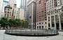LOWER MANHATTAN. Chase Manhattan Plaza - il vuoto del Noguchi Sunken Garden