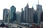 NEW YORK CITY. Il panorama di Lower Manhattan visto dal ponte di Brooklyn