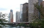 CHICAGO RIVER. Guardando verso est, ovvero verso il Lake Michigan