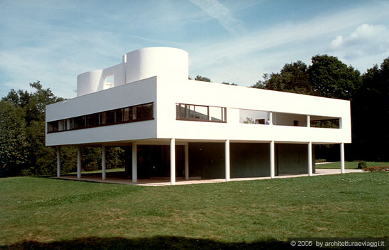 Villa savoye poissy manifesto dell 39 architettura for Piani di architettura domestica moderna
