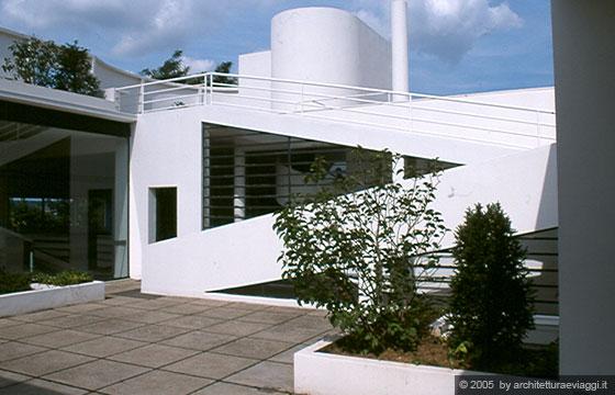 Villa savoye poissy la promenade passeggiata - Le corbusier tetto giardino ...