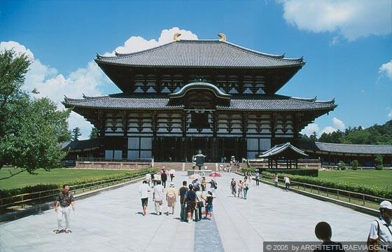 Todai ji daibutsu den hall l 39 originale profilo del for Tetti giapponesi