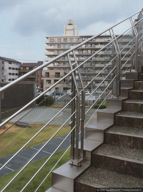 Foto Giardino Zen Giappone : Nara convention hall particolare del parapetto in