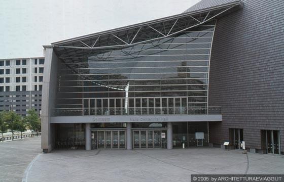 Nara convention hall la parete vetrata del foyer - Parete vetrata esterna ...
