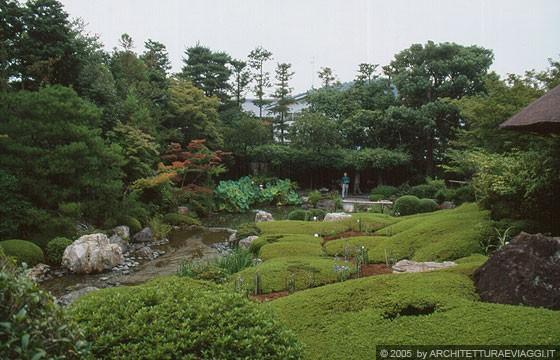 Kyoto nord ovest taizo in temple giardino di passaggio for Stagno in giardino