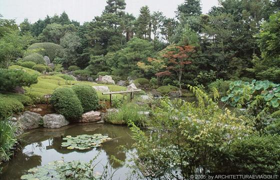 Realizzazione Giardini Moderni : Taizo in temple lelegante e spazioso giardino moderno nakane kinsaku