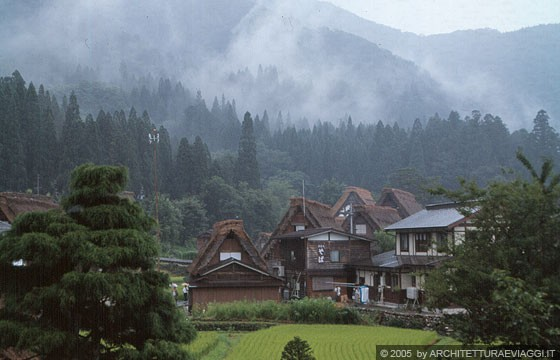 SHIRAKAWA-GO - Ogimachi - Patrimonio Mondiale dell'Umanità per il grande valore architettonico delle case rurali o fattorie <em>minka</em>