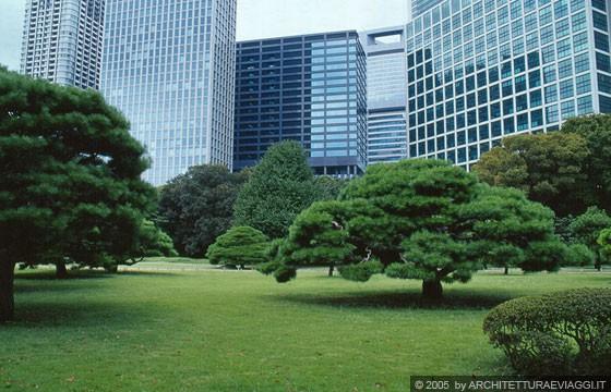 Tokyo ginza i grattacieli di shiodome sullo sfondo dei for Giardino hamarikyu